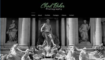 Chad Baker Photography Website