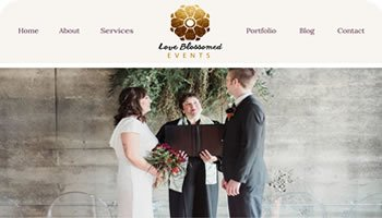 Love Blossomed Events Website